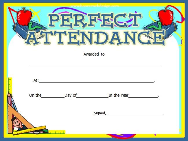 certificates of attendance template