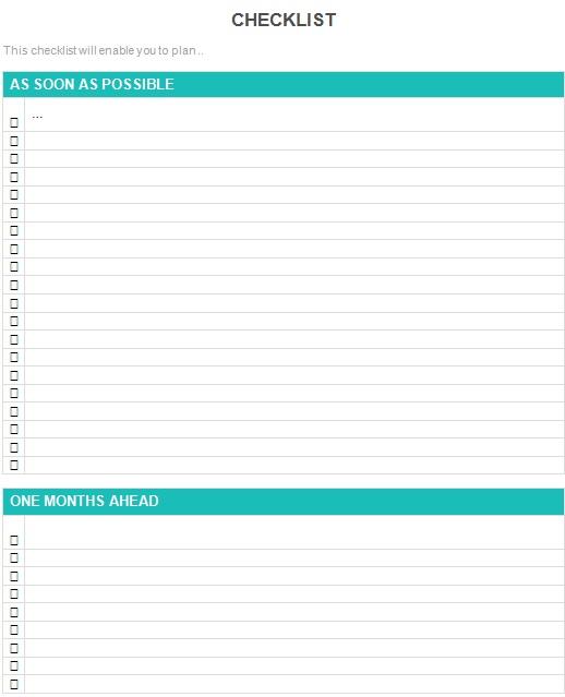 checklist template 11