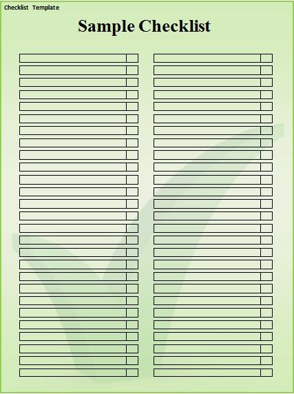 checklist template 12