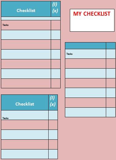 checklist template 15