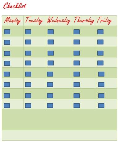 checklist template 17