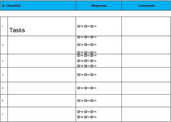checklist template 18