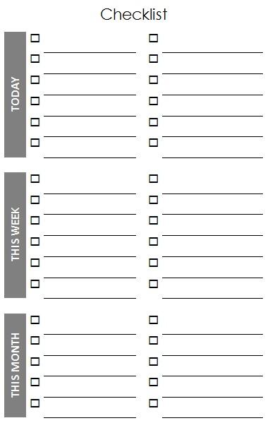 checklist template 20