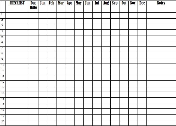 checklist template 23