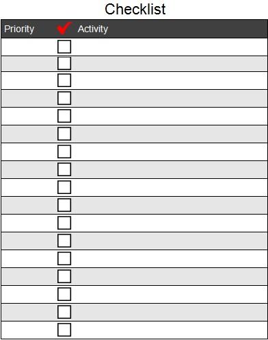 checklist template 27