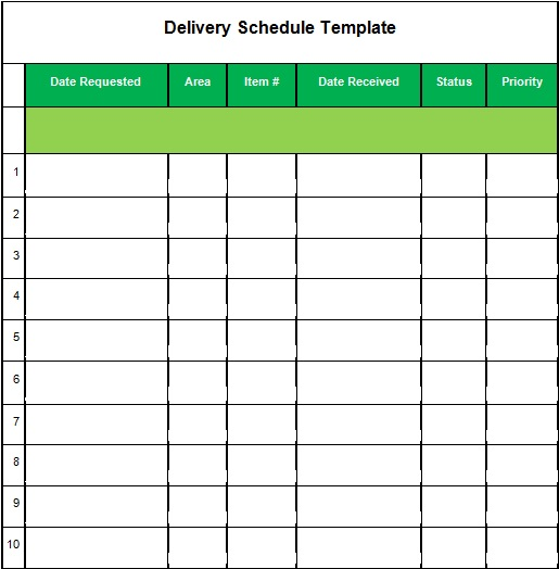 23+ Printable Delivery Schedule Templates [Excel, Word, PDF]