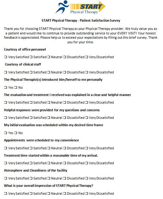 patient satisfaction survey template 4