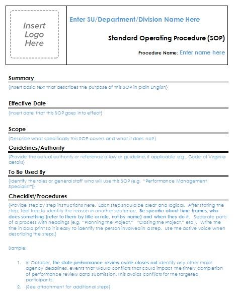 29+ Free Standard Operating Procedure (SOP) Templates [Word]